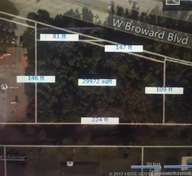 0 W Broward Blvd, Plantation, FL 33325 (MLS #A10957448) :: The Howland Group