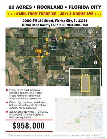 20600 SW 360 ST, Florida City, FL 33034 (MLS #A10523478) :: Green Realty Properties