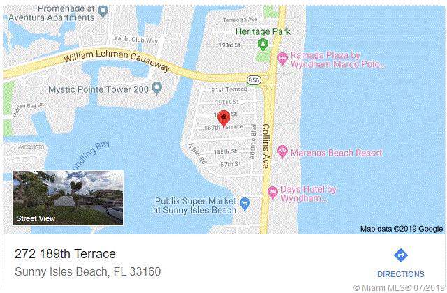 272 189th Ter, Sunny Isles Beach, FL 33160 (MLS #A10609870) :: Grove Properties