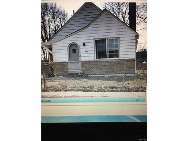 268 E Rundell Street, Pontiac, MI 48342 (#216114253) :: The Buckley Jolley Real Estate Team
