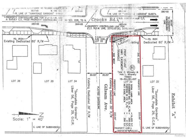 00 Crooks, Rochester Hills, MI 48309 (#217025392) :: Duneske Real Estate Advisors