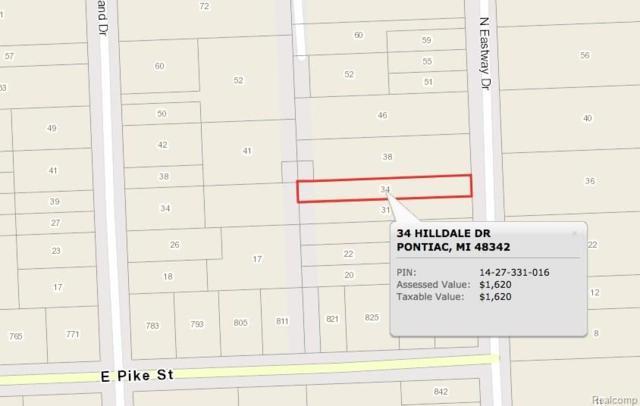 34 Hilldale Drive, Pontiac, MI 48342 (#217102162) :: The Buckley Jolley Real Estate Team