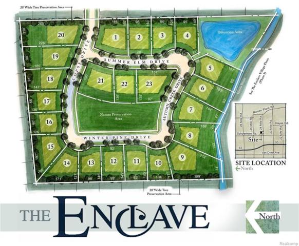 LOT# 1 - 23 The Enclave, Shelby Twp, MI 48315 (#218005044) :: RE/MAX Classic