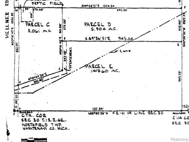 6170 Hellner Road, Northfield Twp, MI 48105 (MLS #218036442) :: The Toth Team