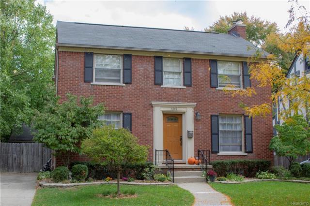 1352 Bishop Road, Grosse Pointe Park, MI 48230 (#218099810) :: Duneske Real Estate Advisors