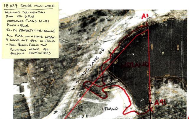 Vacant Land Mcclintock & Square Lake, Bloomfield Twp, MI 48302 (#218102483) :: RE/MAX Classic