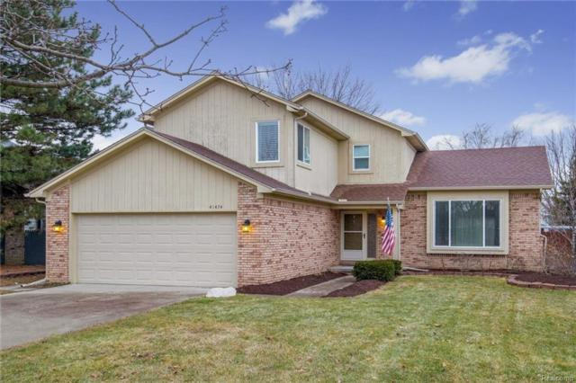 41474 Greenwood Drive, Canton Twp, MI 48187 (#219004383) :: The Alex Nugent Team   Real Estate One