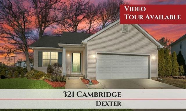 321 Cambridge Drive, Dexter, MI 48130 (#543264075) :: Keller Williams West Bloomfield