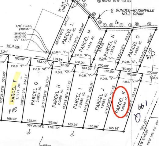 10955 S Custer, Raisinville Twp, MI 48161 (#57031383865) :: The Alex Nugent Team | Real Estate One