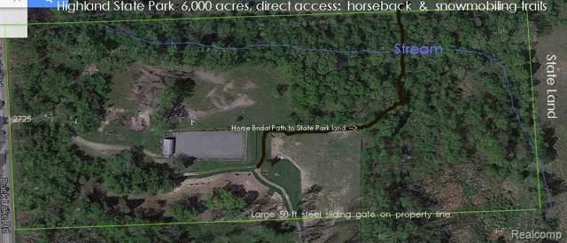 2725 S Duck Lake Road, Highland Twp, MI 48356 (MLS #219096812) :: The John Wentworth Group