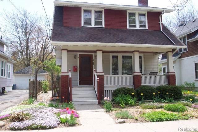 820 Dewey Avenue, Ann Arbor, MI 48104 (MLS #219112330) :: The Toth Team
