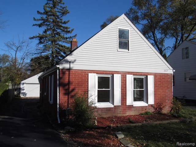 667 E Madison Avenue, Pontiac, MI 48340 (#219113631) :: The Alex Nugent Team | Real Estate One
