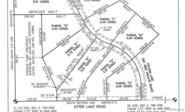 Parcel M Folsom Lane Road, Marathon Twp, MI 48464 (#219120303) :: GK Real Estate Team