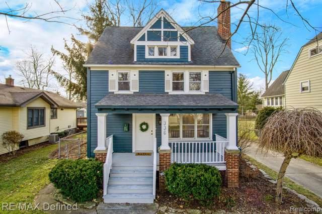 336 Highland Avenue, Rochester, MI 48307 (#2200001725) :: The Alex Nugent Team | Real Estate One