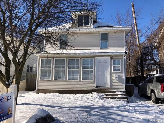 445 N Saginaw Street, Pontiac, MI 48342 (#2200005186) :: GK Real Estate Team