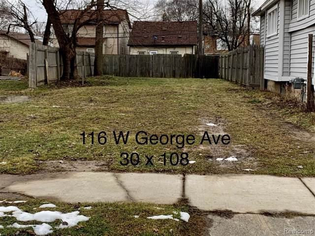 116 W George Ave, Hazel Park, MI 48030 (#2200007220) :: RE/MAX Nexus