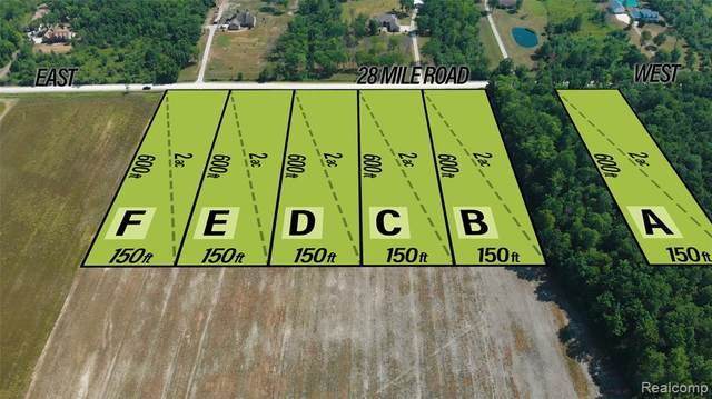 0 28 Mile Road Lot 4F, Ray Twp, MI 48096 (MLS #2200054920) :: The John Wentworth Group