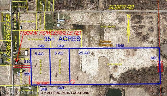 35 ACRES Fowlerville Road, Conway Twp, MI 48836 (#2200057202) :: BestMichiganHouses.com