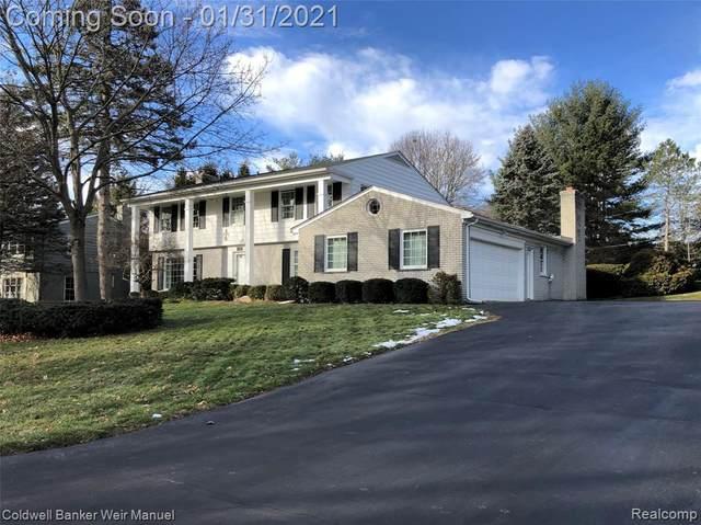 3850 Shellmarr Lane, Bloomfield Twp, MI 48302 (#2200101828) :: The Alex Nugent Team   Real Estate One