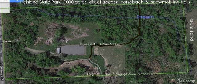 2725 S Duck Lake Road, Highland Twp, MI 48356 (#2210000749) :: The Alex Nugent Team | Real Estate One
