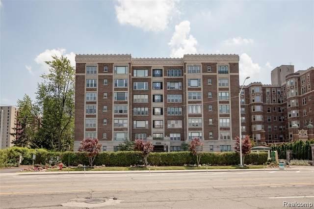 8120 E Jefferson Ave # 66/6E 6E, Detroit, MI 48214 (#2210043407) :: Alan Brown Group