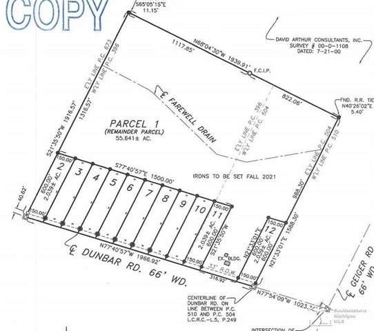 7210 W Dunbar Lot # 10, Raisinville Twp, MI 48140 (#57050051579) :: The Vance Group | Keller Williams Domain