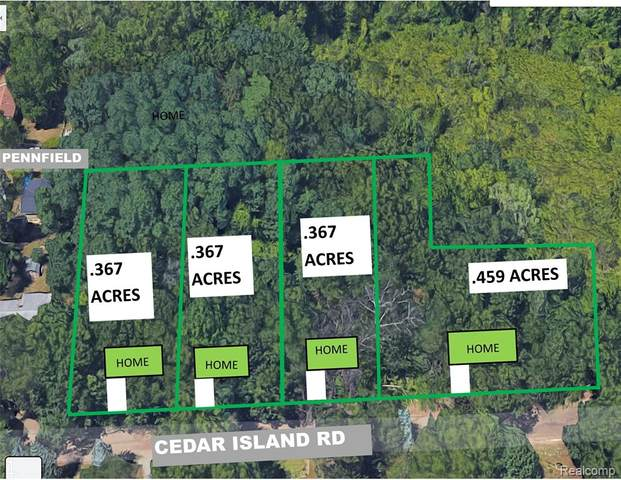 4 LOTS Cedar Island Rd, White Lake Twp, MI 48386 (#2210072531) :: National Realty Centers, Inc