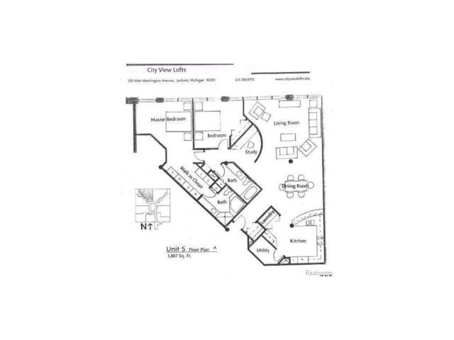 109 W Washington Ave Unit 5, CITY OF JACKSON, MI 49201 (#55020021681) :: Duneske Real Estate Advisors