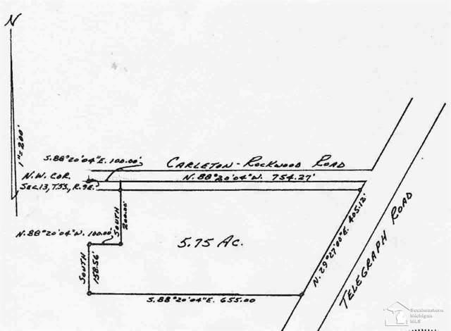 0 Telegraph-Carleton Rockwood Rd, Carleton, MI 48117 (#57021181506) :: Alan Brown Group
