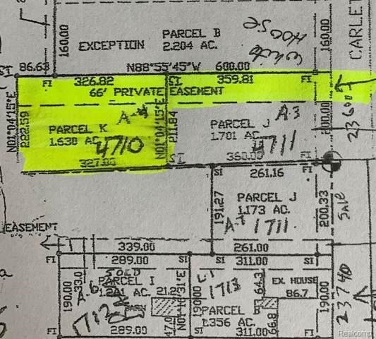 0000C Carleton West Road, Sumpter Twp, MI 48111 (MLS #2200032544) :: The Toth Team
