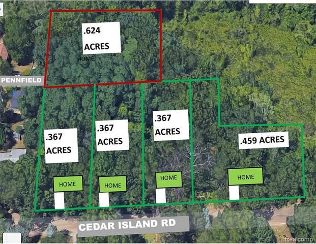 7 lots Cedar Island Road, White Lake Twp, MI 48386 (#2210042723) :: Keller Williams West Bloomfield
