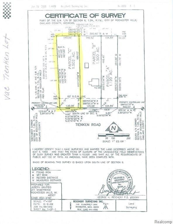 V/L Tienken Rd, Rochester Hills, MI 48326 (#217103208) :: RE/MAX Nexus