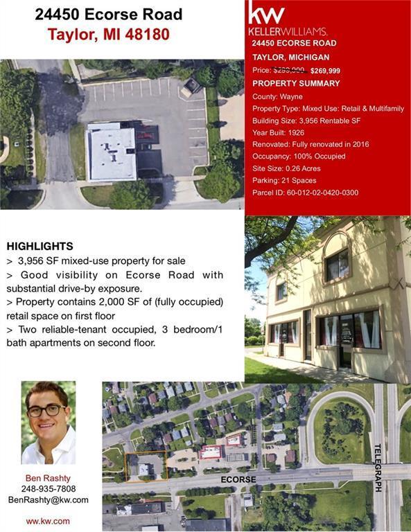 24450 Ecorse Road, Taylor, MI 48180 (#218115161) :: Keller Williams West Bloomfield