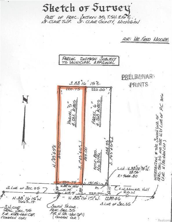 VL Fred W Moore Highway, Saint Clair Twp, MI 48079 (#219005971) :: The Buckley Jolley Real Estate Team