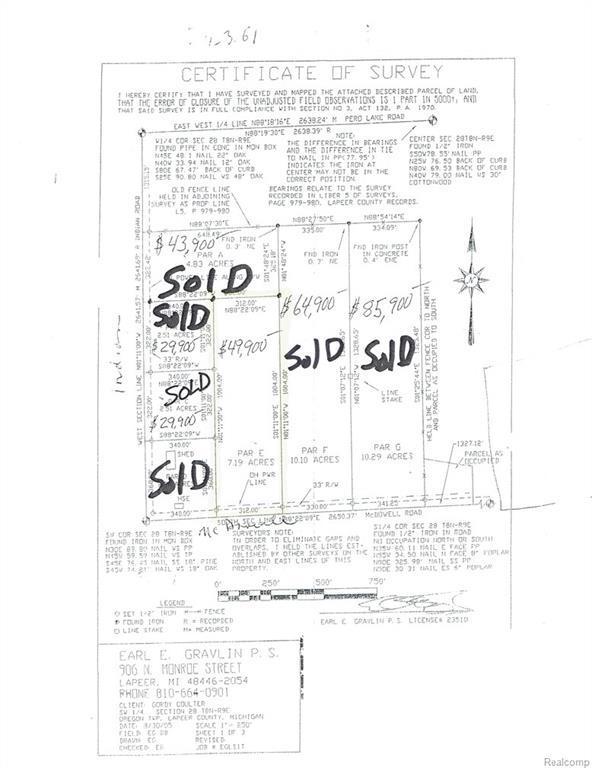 PARCEL E Mcdowell Road, Oregon Twp, MI 48446 (#219012728) :: The Buckley Jolley Real Estate Team
