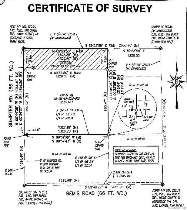 0003 Bemis Road, Van Buren Twp, MI 48111 (#219014856) :: RE/MAX Nexus