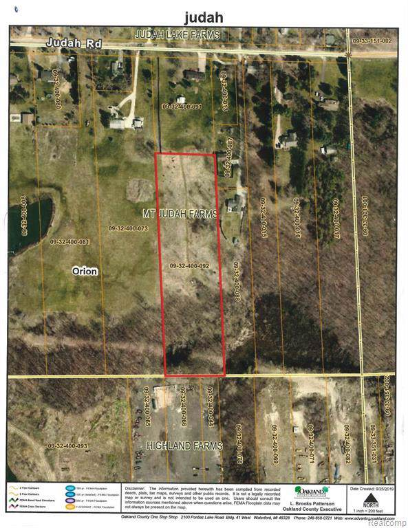 Vacant Judah Rd, Orion Twp, MI 48359 (#219099222) :: The Buckley Jolley Real Estate Team