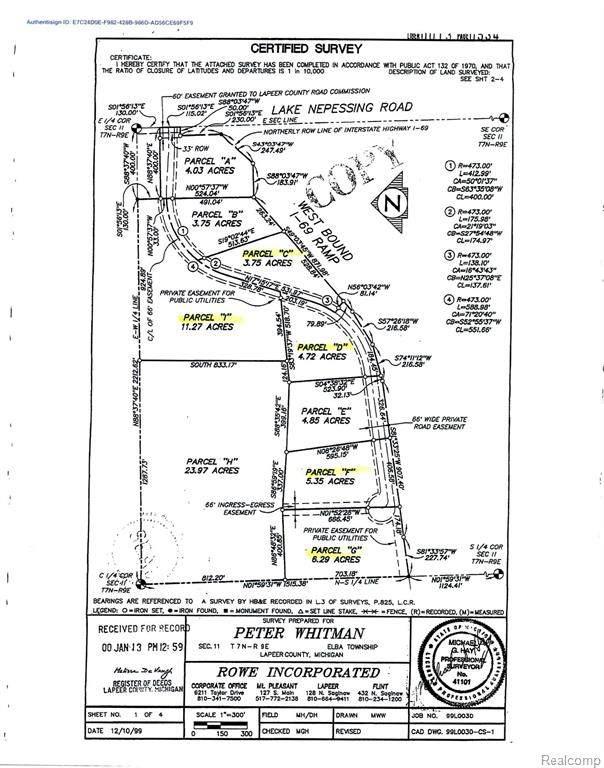 Parcel I Trade Center Way, Elba Twp, MI 48446 (#2200010154) :: The Mulvihill Group