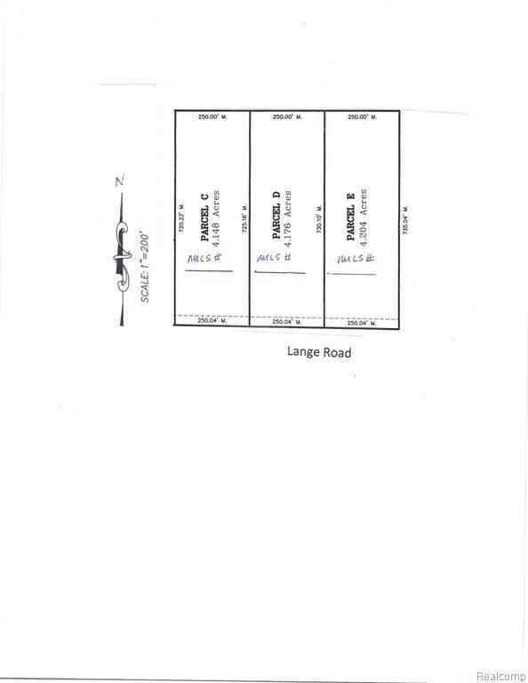VL Parcel E Lange Rd Parcel E Road, Iosco Twp, MI 48836 (#2200021816) :: RE/MAX Nexus