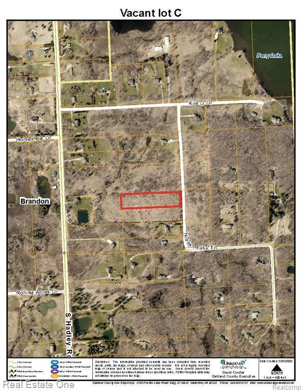 Vacant lot C Hidden Lake Trail, Brandon Twp, MI 48462 (#2200036547) :: The Alex Nugent Team | Real Estate One