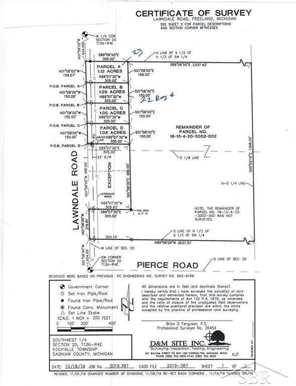 7000 Lawndale Lot D, Kochville Twp, MI 48623 (#61050016597) :: RE/MAX Nexus