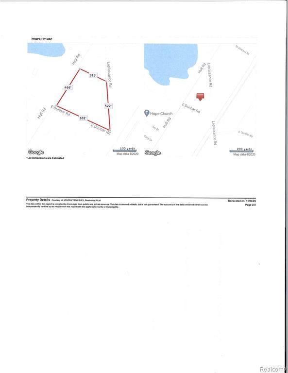 0000 E Dunbar Road, Monroe Twp, MI 48161 (#2200100097) :: The Alex Nugent Team | Real Estate One