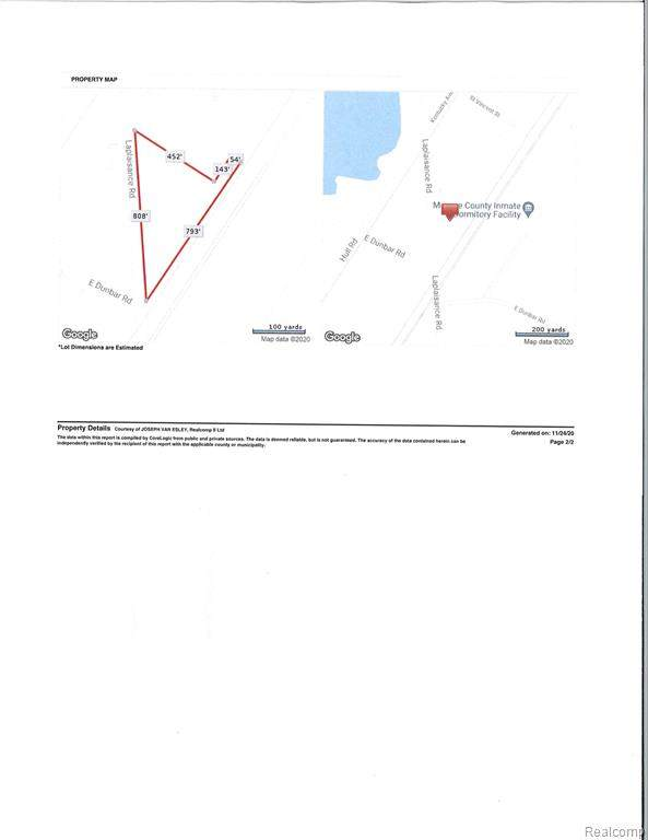 0000 Laplaisance Road, Monroe Twp, MI 48161 (#2200100105) :: The Alex Nugent Team | Real Estate One
