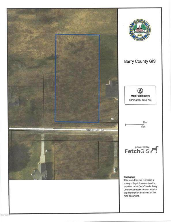 Parcel 1 Osborne Road, BARRY TWP, MI 49046 (#66020022290) :: NextHome Showcase