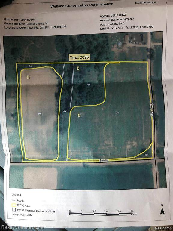 30 acres Bowers Road, Mayfield Twp, MI 48446 (#2210003596) :: Robert E Smith Realty