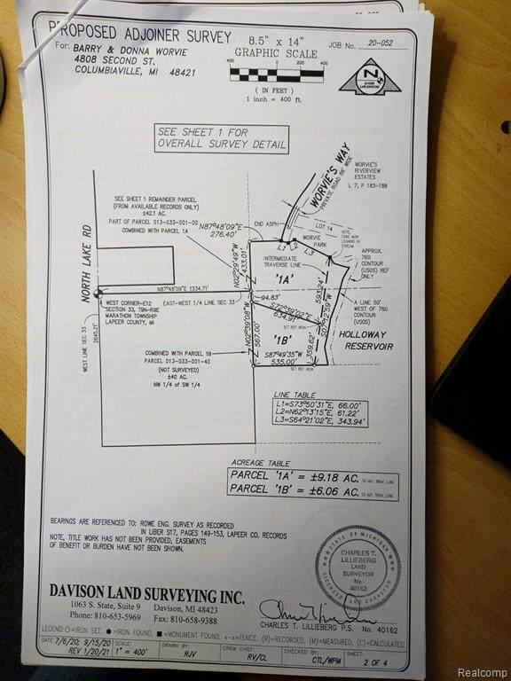 0 North Lake Road, Marathon Twp, MI 48421 (MLS #2210011398) :: The John Wentworth Group