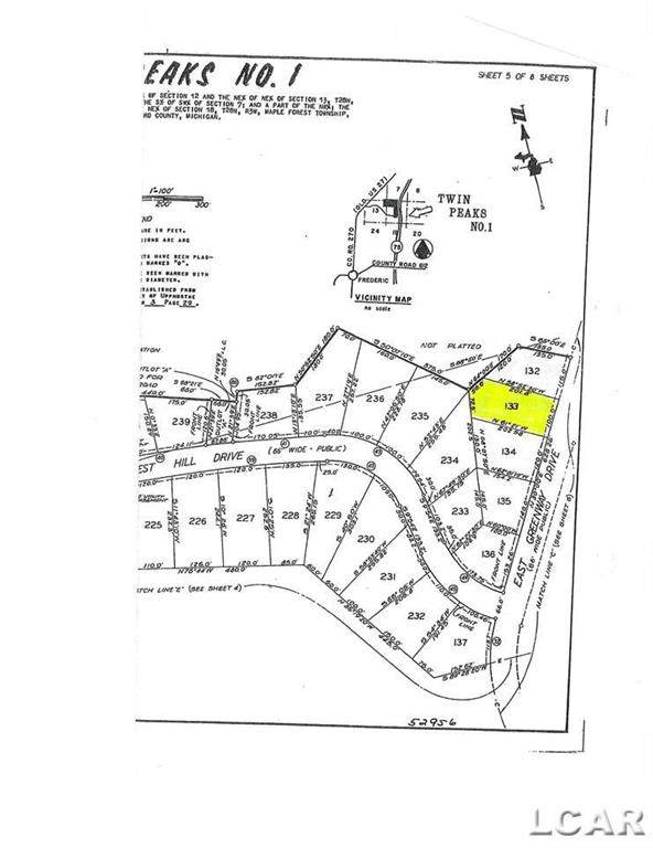 Lot 133 Twin Peakes, Maple Forest Twp, MI 49733 (#56050043914) :: Real Estate For A CAUSE
