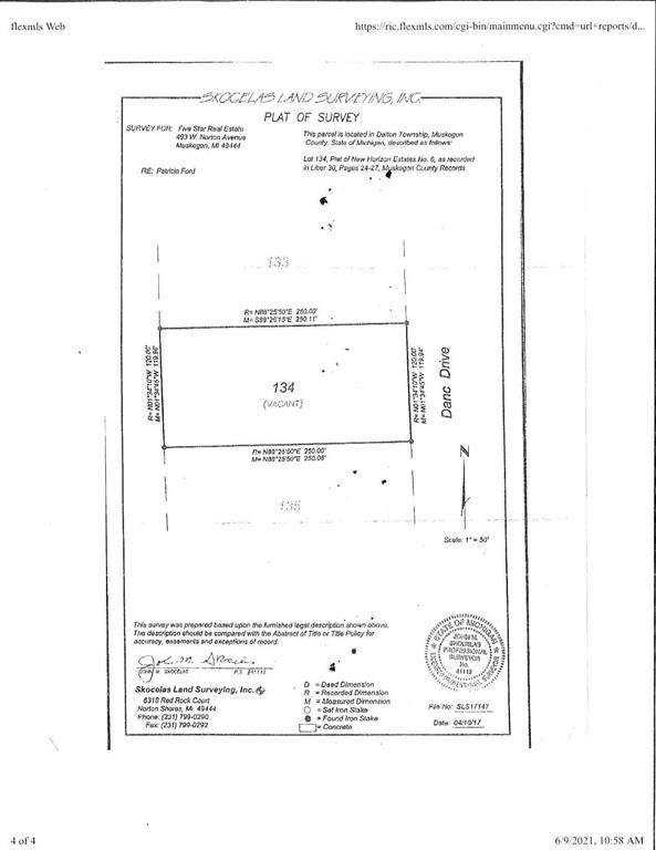 Lot 134 Danc Drive, Dalton Twp, MI 49457 (#71021021804) :: Real Estate For A CAUSE
