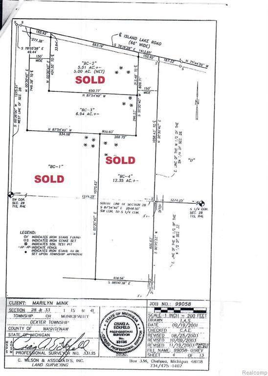 BC-3 Island Lake Road, Dexter Twp, MI 48118 (#2210046653) :: GK Real Estate Team