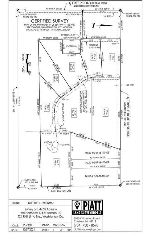 0 Trinkle Parcel F 3.47 +/- Acre, Lima, MI 48118 (#543284533) :: The Alex Nugent Team | Real Estate One